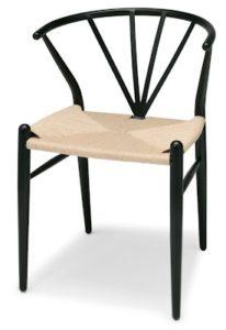 svart köksstol i metall