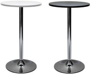 svart vitt barbord kromad stål