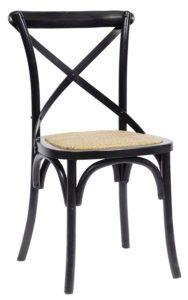 svart köksstol i ek